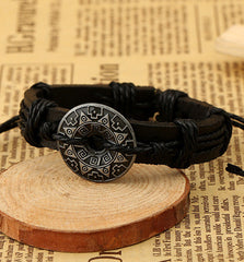 Alloy Flower Decorate Woven Bracelet - Oh Yours Fashion - 4