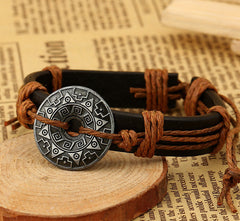 Alloy Flower Decorate Woven Bracelet - Oh Yours Fashion - 2