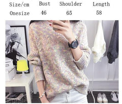 Color Knitting Female Casual Sweater - Oh Yours Fashion - 5