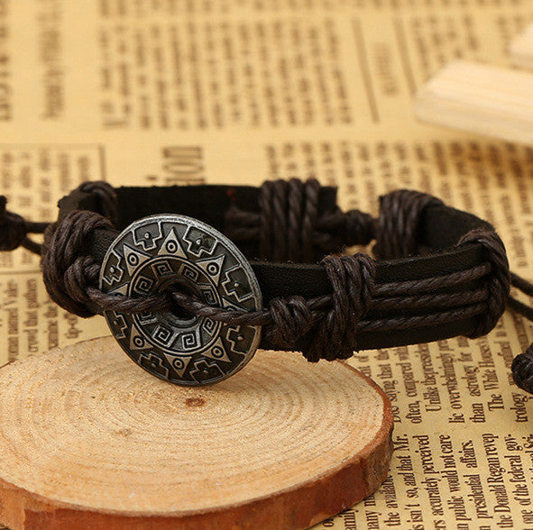Alloy Flower Decorate Woven Bracelet - Oh Yours Fashion - 1