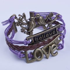 Love Birds Believe DIY Handmade Bracelet - Oh Yours Fashion - 2