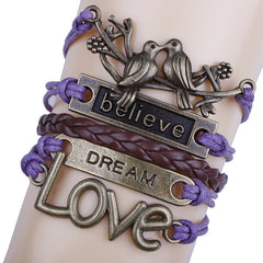 Love Birds Believe DIY Handmade Bracelet - Oh Yours Fashion - 1