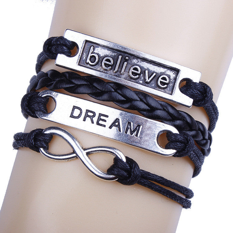 Believe Dream Multilayer Woven Bracelet - Oh Yours Fashion