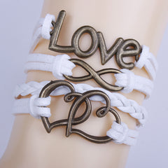 Pure Color Double Heart Love Bracelet - Oh Yours Fashion - 1