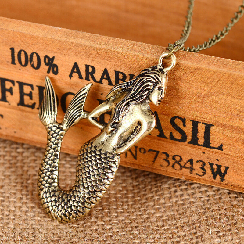 Beautiful Mermaid Pendant Necklace - Oh Yours Fashion - 3
