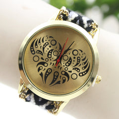 Colorful Love Design Wool Knitting Strap Watch - Oh Yours Fashion - 2