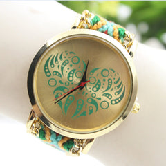 Colorful Love Design Wool Knitting Strap Watch - Oh Yours Fashion - 1