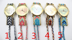 Colorful Love Design Wool Knitting Strap Watch - Oh Yours Fashion - 4