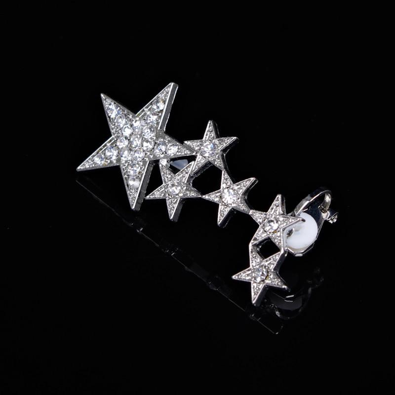Beautiful Crystal Stars Lady's Earrings