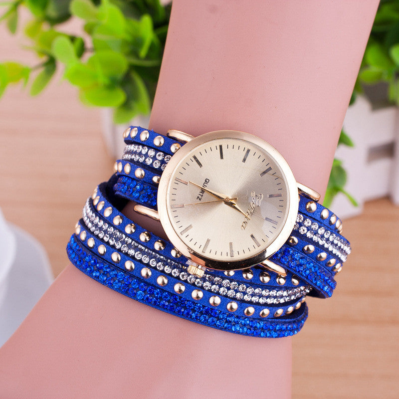 Personality Rivet Strap Bracelet Watch - Oh Yours Fashion - 7