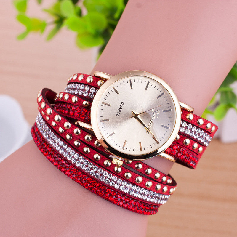 Personality Rivet Strap Bracelet Watch - Oh Yours Fashion - 2