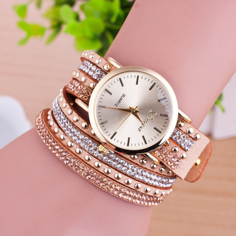 Personality Rivet Strap Bracelet Watch - Oh Yours Fashion - 6