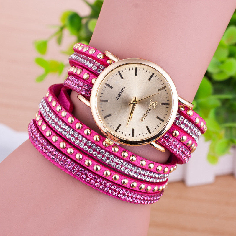 Personality Rivet Strap Bracelet Watch - Oh Yours Fashion - 5