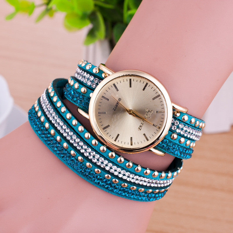 Personality Rivet Strap Bracelet Watch - Oh Yours Fashion - 9