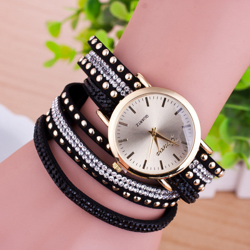 Personality Rivet Strap Bracelet Watch - Oh Yours Fashion - 4
