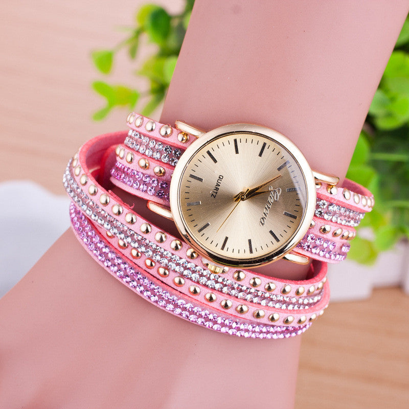 Personality Rivet Strap Bracelet Watch - Oh Yours Fashion - 8