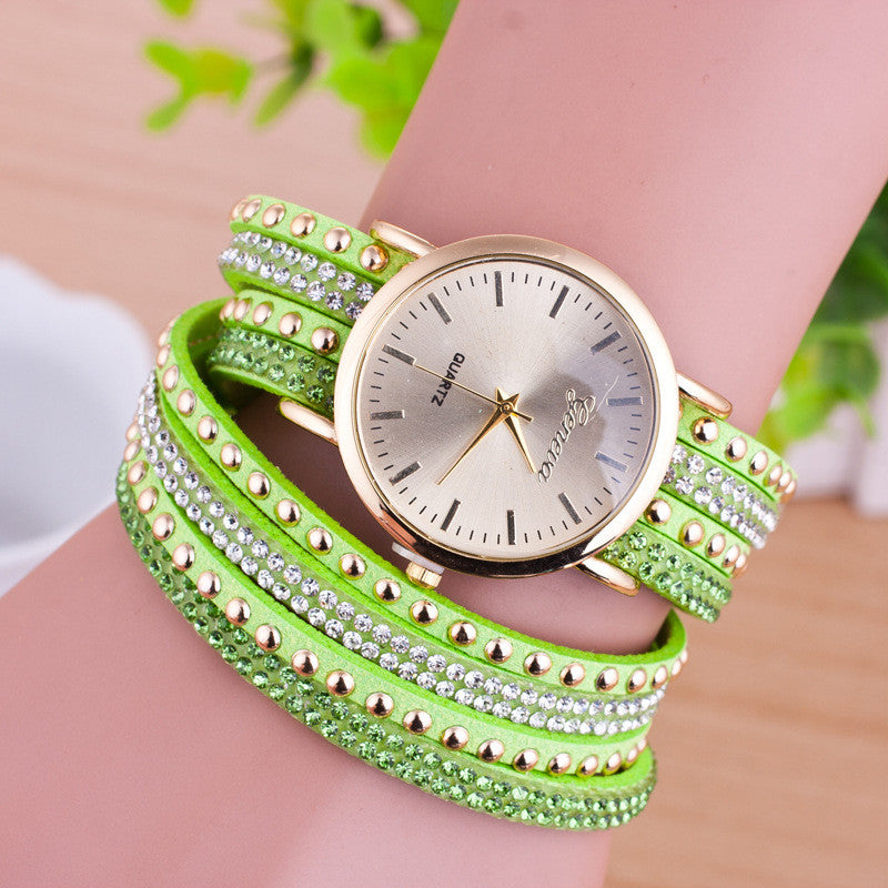 Personality Rivet Strap Bracelet Watch - Oh Yours Fashion - 3