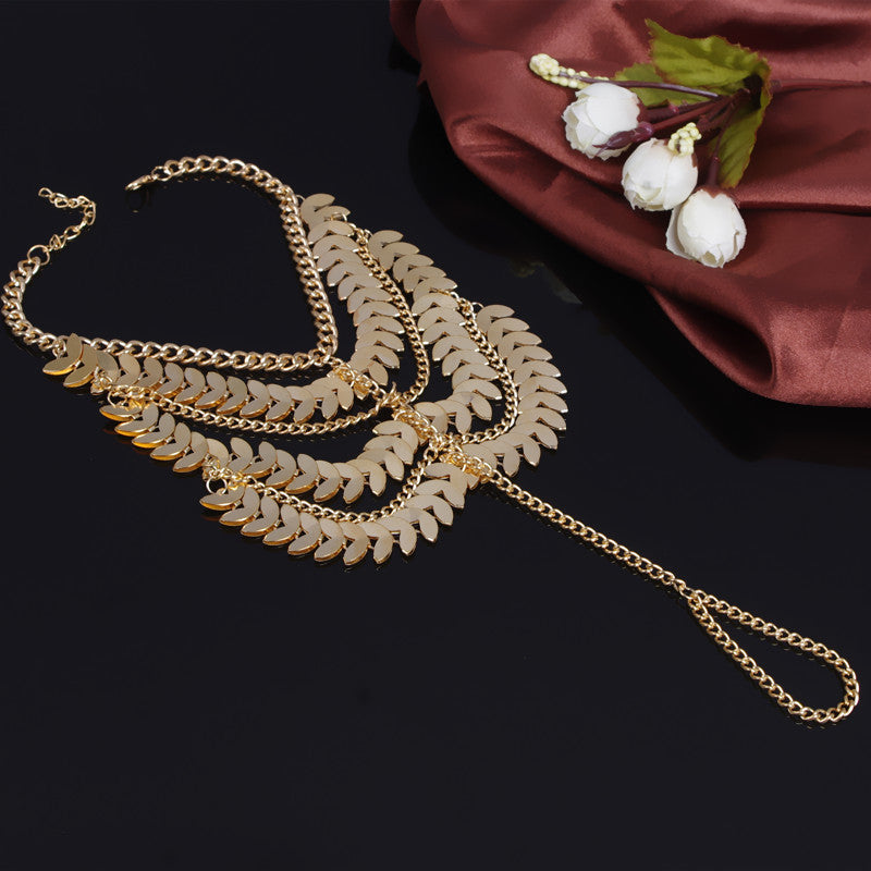 Exaggerate Multilayer Tassels Anklet - Oh Yours Fashion - 3
