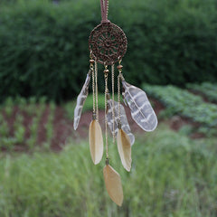 Dreamcatcher Hand-Woven Feather Necklace Sweater Chain - Oh Yours Fashion - 1