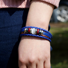 Hand-woven Multicolor Beaded Leather Bracelet - Oh Yours Fashion - 7