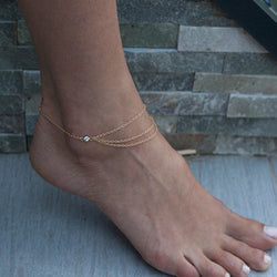 Hot Style Crytal Single Anklet - Oh Yours Fashion - 1