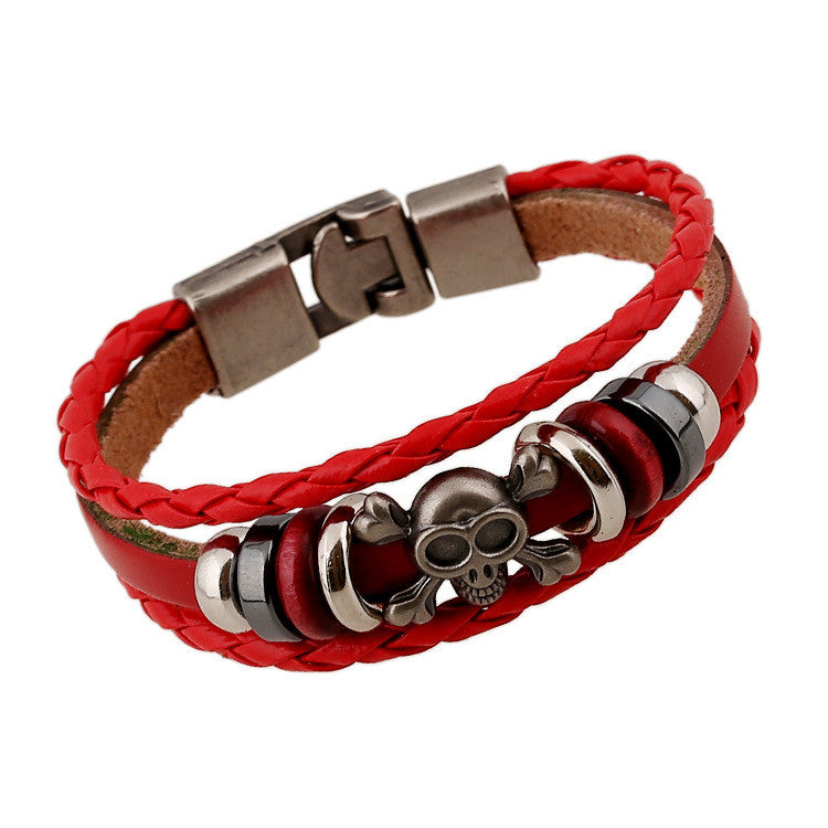 Hand-woven Multicolor Beaded Leather Bracelet - Oh Yours Fashion - 4