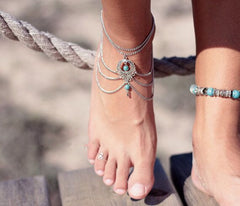 National Style Hollow Out Droplets Anklet - Oh Yours Fashion - 5