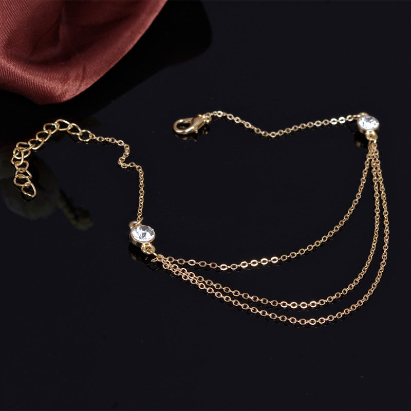 Hot Style Crytal Single Anklet - Oh Yours Fashion - 3