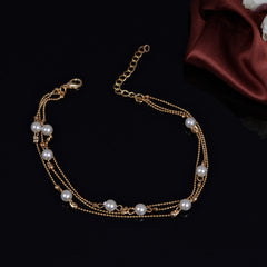 Pearl Copper Beads Single Anklet - Oh Yours Fashion - 2