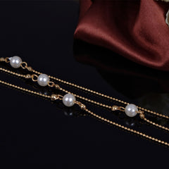 Pearl Copper Beads Single Anklet - Oh Yours Fashion - 3
