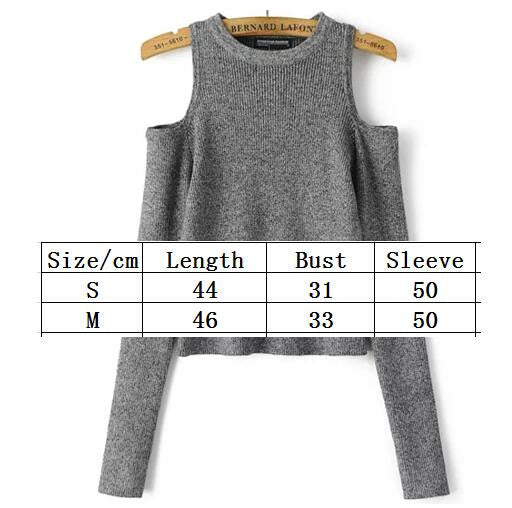 Dew Shoulder Thread Long Sleeve Short Sweater - Oh Yours Fashion - 3