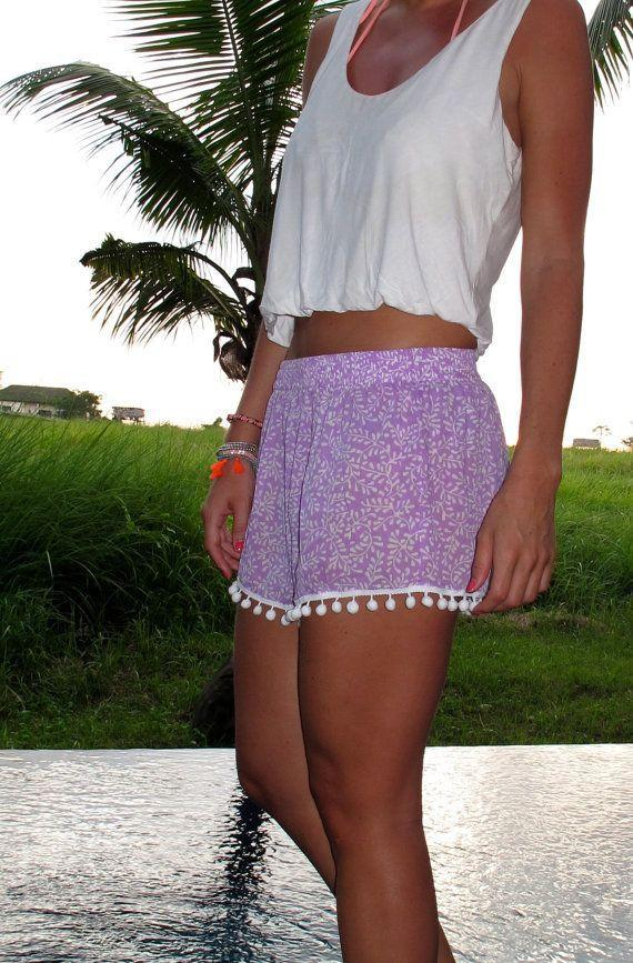 Flower Print Balls Elastic Beach Hot Shorts - Meet Yours Fashion - 7