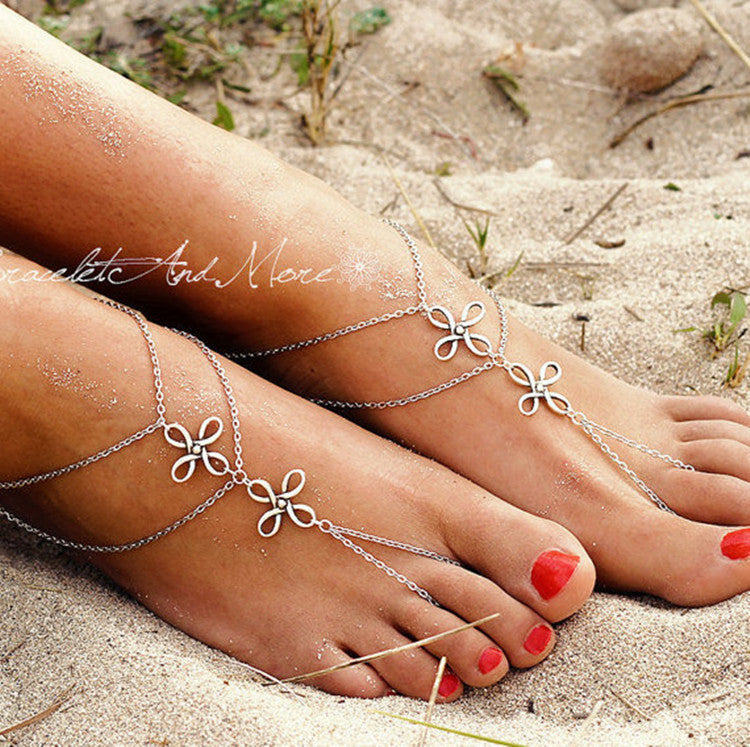 Chinese Knot Multilayer Anklet - Oh Yours Fashion - 1