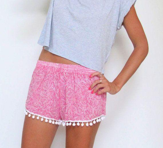 Flower Print Balls Elastic Beach Hot Shorts - Meet Yours Fashion - 6