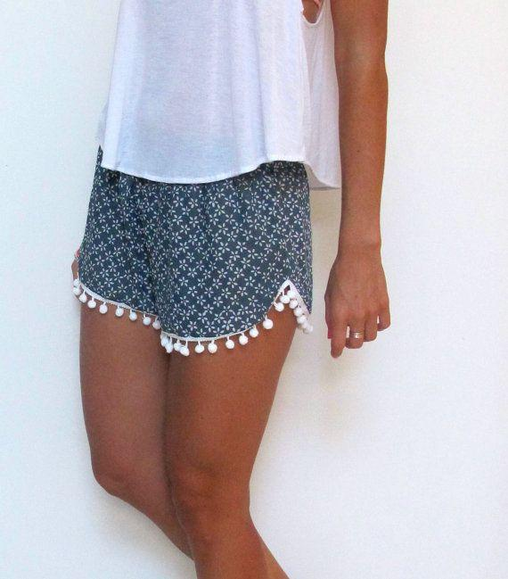Flower Print Balls Elastic Beach Hot Shorts - Meet Yours Fashion - 5