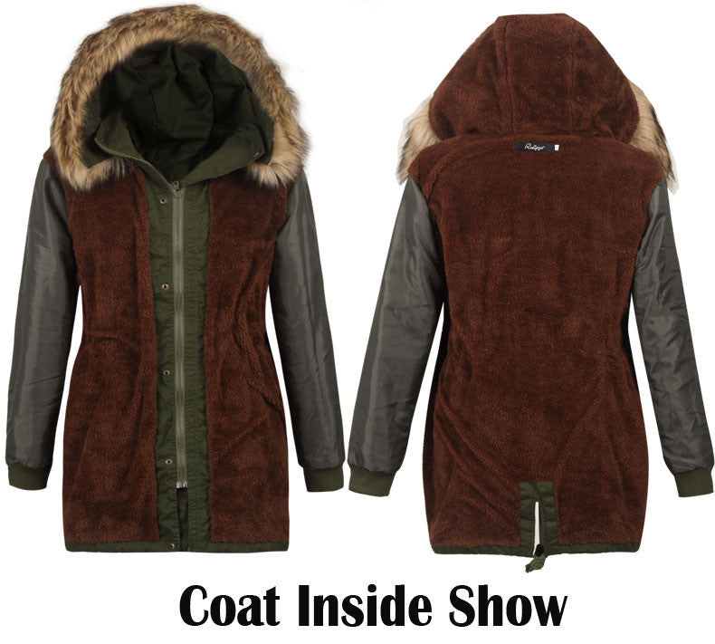 Faux Fur Collar Long Winter Hooded Coat - Oh Yours Fashion - 3