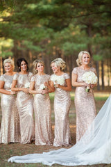 Shinning Backless Sequined Long Party Bridesmaid Dress - Oh Yours Fashion - 4