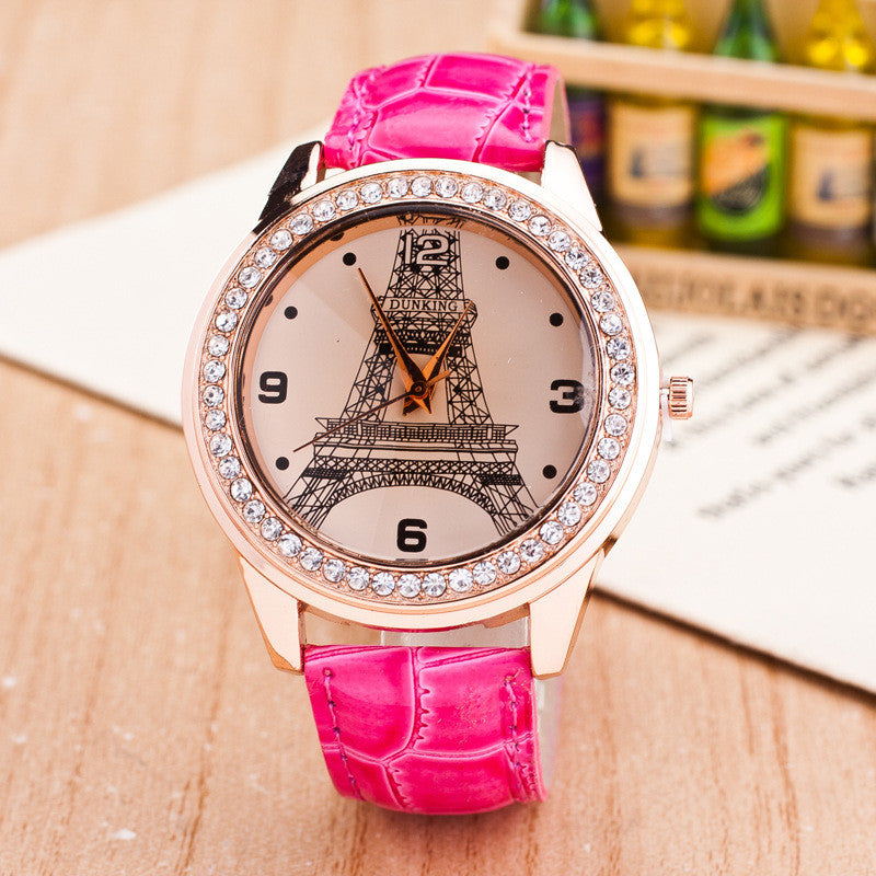 Fashion Eiffel Tower Crystal Watch - Oh Yours Fashion - 1