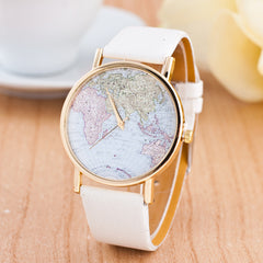 The World Map Faux Leather Strap Watch - Oh Yours Fashion - 6