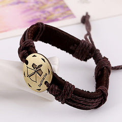 Retro Style 12 Constellation Leather Bracelet - Oh Yours Fashion - 7