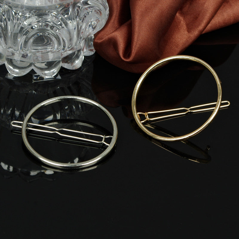 Simple Geometric Metal Ring Hair Clips - Oh Yours Fashion - 5