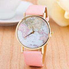The World Map Faux Leather Strap Watch - Oh Yours Fashion - 4