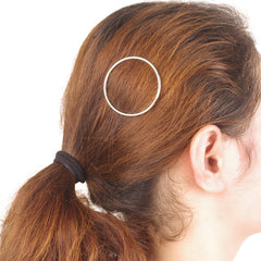 Simple Geometric Metal Ring Hair Clips - Oh Yours Fashion - 3