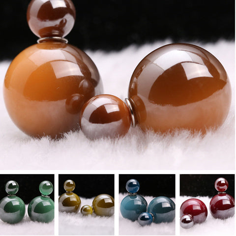 Creative Double Gradient Pearl Earring