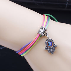 Blue Eyes Color Rope Hand Multilayer Woven Bracelet - Oh Yours Fashion - 1