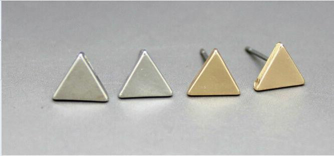 Triangle Geometry Stereo Stud Earrings - Oh Yours Fashion - 3