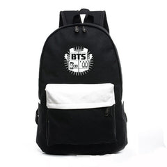 Contrast Color Canvas Letter Print School Backpack - Oh Yours Fashion - 2