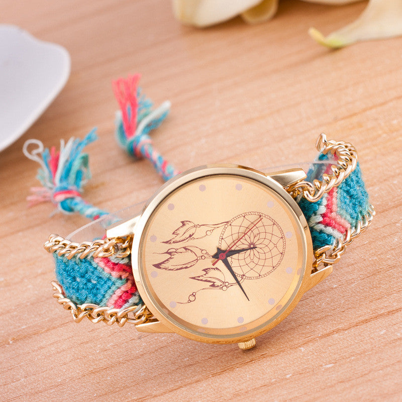 National Pink Style Woven DIY Watch - Oh Yours Fashion - 3