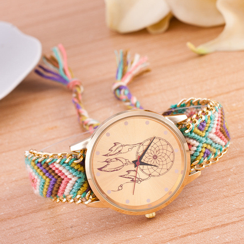 National Pink Style Woven DIY Watch - Oh Yours Fashion - 6