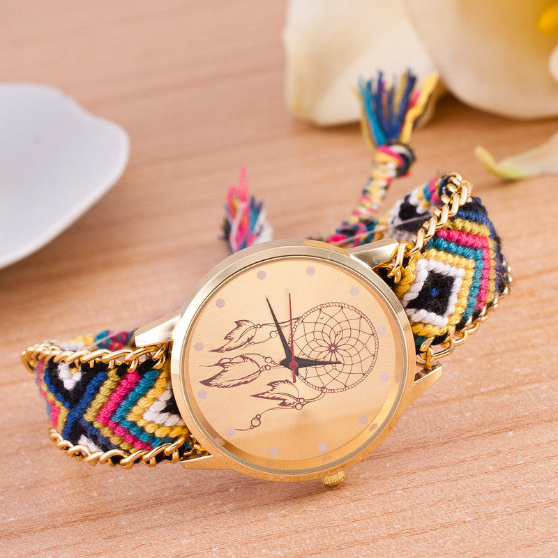 National Pink Style Woven DIY Watch - Oh Yours Fashion - 12